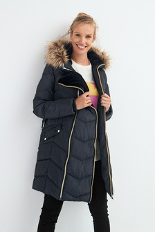 Maternity 3-In-1 Faux Fur Lined Padded Jacket