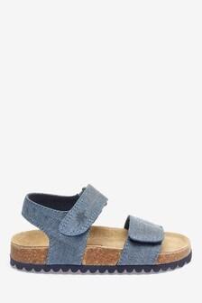 Sandales avec assise plantaire en liège (Enfant)