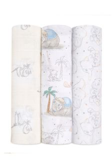 aden + anais™ Large Swaddles 3 Pack Cotton Muslin Disney® Baby - My Darling Dumbo