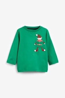 تي شيرت جيرسيه Elf Pocket كم طويل (3 شهور -7 سنوات)