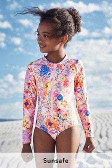 Long Sleeve Sunsafe Swimsuit (3-16yrs) (450320) | $25 - $31