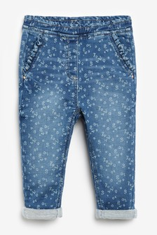 Floral Frill Pocket Jeans (3mths-7yrs)