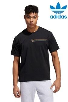 Camiseta con gráfico con líneas del Orgullo de adidas Originals