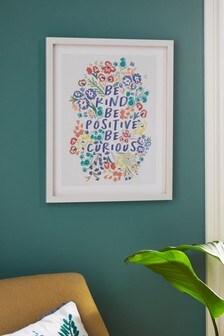 Be Kind Framed Wall Art