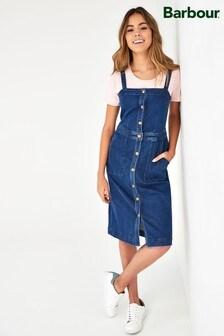Barbour® Coastal Darcie Pinafore Denim Midi Dress