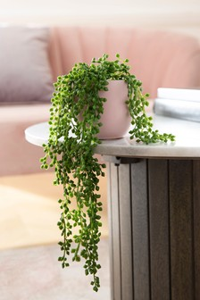 Artificial Trailing Plant In Pink Pot