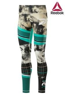 Reebok Green Workout Ready Printed Leggings