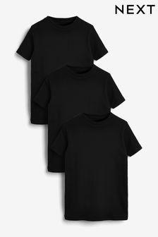 コットン リブ Tシャツ 3 枚組 (1.5 ~ 16 歳)