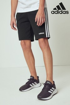 adidas Black Essential 3 Stripe Shorts