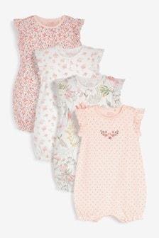 Confezione da 4 paia di tutine rosa (0 mesi - 3 anni)