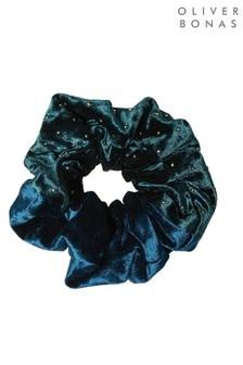 Zamatová gumička do vlasov Oliver Bonas Alanis s flitrami