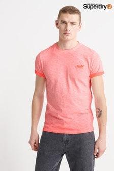 Superdry Roller T-Shirt, Korallrot