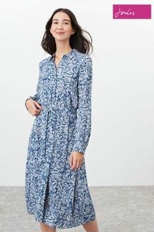 Joules Blue Aurelie A-Line Shirt Dress