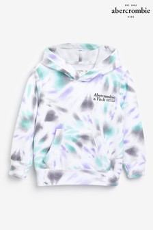 Abercrombie & Fitch Tie Dye Logo Detail Hoodie