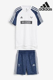 Ensemble adidas Messi blanc