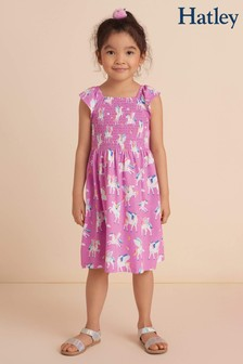 Hatley Magical Pegasus Gesmoktes Kleid, Violett