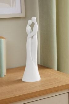 White Contemporary Couple Figurine