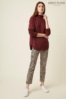 Great Plains Leopard Pearl Denim Trousers
