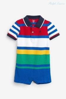 Комбинезон в разноцветную полоску с логотипом Ralph Lauren