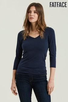 T-shirt FatFace Lauren bleu