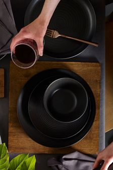 Black Bronx Set of 4 Deep Plates