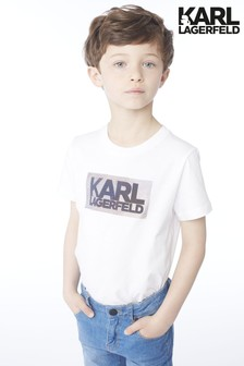 Karl Lagerfeld Kids White T-Shirt