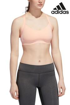 adidas Pink All Me 3 Stripe Bra