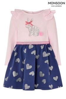 Monsoon嬰兒裝小兔圖案2合1連衣裙