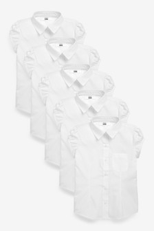 5 Pack Puff Sleeve Shirts (3-16yrs)