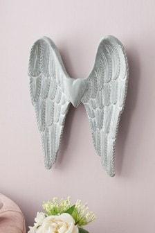 Plaque murale motif ailes d'ange style vintage