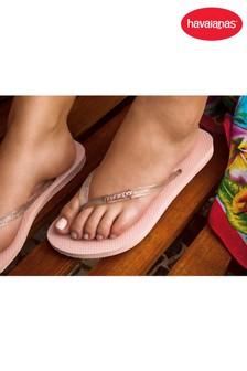 Havaianas® Slim Logo Metallic Flip Flops