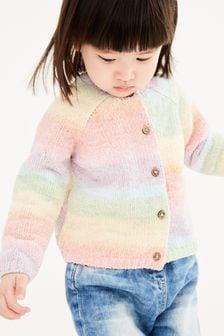 Cardigan en maille chenille (3 mois - 7 ans)