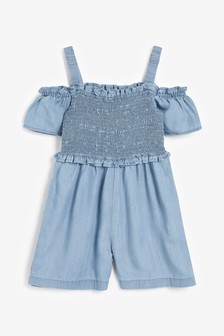 Ruched Sleeveless Playsuit (3-16yrs)