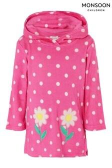 Monsoon Baby Daisy Spot Towelling Dress