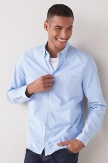 Obleková strečová košeľa s dlhými rukávmi