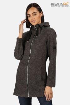Regatta Black Reeva Longline Hooded Fleece