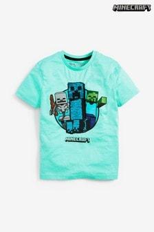 Short Sleeve Sequin Minecraft T-Shirt (4-14yrs)
