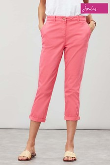 Pantaloni chino scurtați Joules Hesford roz