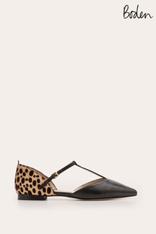 Boden Black Sienna T-Bar Flat Shoes