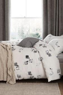 Zestaw pościeli ze100%bawełny czesankowej: poszwa na kołdrę i poszewki na poduszki w owce