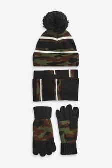 Шапка, перчатки и шарф (комплект) (Подростки)
