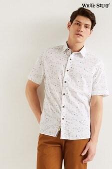 חולצה לבנה של White Stuff דגם Newport בהדפס אוריגמי