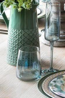 Set of 4 Portmeirion Atrium Stemless Wine Glasses