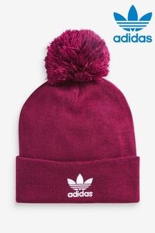 כובע סריג שלadidasOriginals עם פונפון בצבע בורדו
