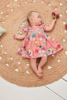 花卉洋裝和同款女內褲 (0個月至2歲)