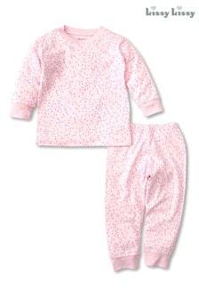 Розовый пижамный комплект с принтом сердечек Kissy Kissy
