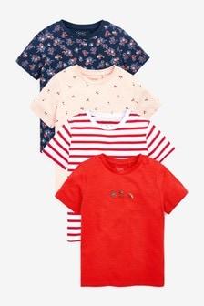 מארז 4 חולצות טי (גילאי 3 עד 16)
