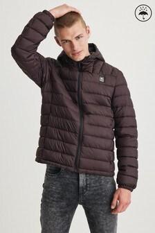 Nepremokavá prešívaná bunda s kapucňou