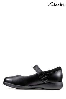 Черные туфли с отделкой Clarks K