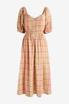 Sweetheart Neckline Midi Dress